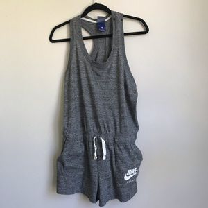 Nike gray athleisure romper with pockets